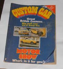 CUSTOM CAR MAGAZINE NOVEMBER 1972 MOTOR SHOW ISSUE