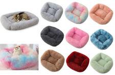 Pet dog cat bed luxury shag warm fluffy rectangle cushion Comfortable large UK