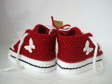 Socken NEU! dunkelgrau gestrickt Handarbeit Babyschuhe GEHÄKELT Stiefel