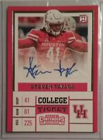 2017 Panini Contenders College Ticket STEVEN TAYLOR Autograph Rookie