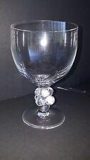 "Lalique France Clos  Vougeot 6 1/4 "" x 4 1/4"" Crystal Wine Taste Glasses"