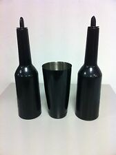 FLAIR BOTTLE set colore nero boston tin nero Attrezzatura Barman Bartender