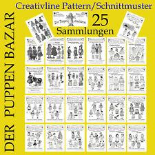 25 Sammlungen - DER PUPPEN BAZAR Nr.1 bis 25 - Schnittmuster Puppenkleidung