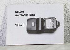 Bedienungsanleitung Nikon Speedlite SB-26