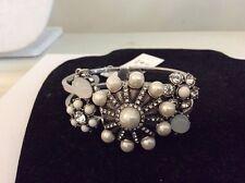 Betsey Johnson Jewelry Something New Flower Hinge Bangle w31