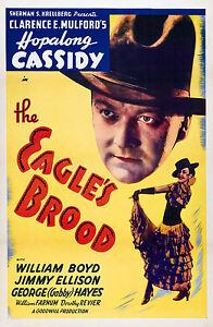 Old Vintage Movie Film Poster, The Eagle's Brood, Fade Resistant Print / Canvas