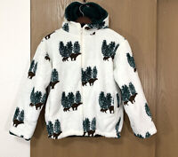 Country Woods Deep Pile Sherpa Hooded Jacket Fleece Mountain Bear Womens Size L