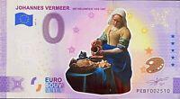 BILLET 0  EURO JOHANNES VERMEER 3 COULEUR  PAYS BAS 2021 NUMERO DIVERS