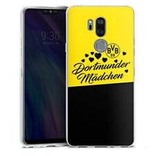 LG G7 ThinQ Silikon Hülle Case - BVB Dortmunder Mädel Herzen