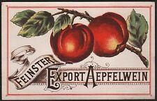 Etikett für Apfelwein - Feinster Export Aepfelwein - ca. 1920 / # 1711