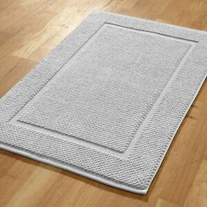 TERRY TOWEL BATH MAT, 800gr/m², 50x80cm , SILVER, EXTRA SOFT AND THICK