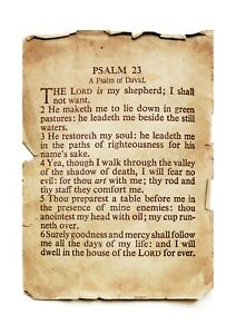 Psalm 23 The Lord is my shepherd A4 poster with choice of frame
