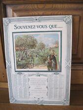 """vintage - calendrier 1919 """" L'allemagne doit ...."""""""