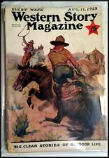 Pulp Magazine: WESTERN STORY August 11, 1923. McCulley, Max Brand serials.
