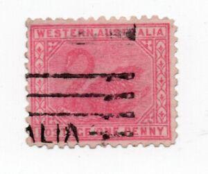 1905 - 1912 Western Australia -  One Penny 1d. A under Crown wmk.Rarer P11 SG151