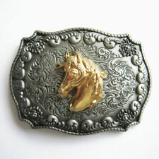 Cowboy Rodeo Metal Belt Buckle Horse Head Double Color Western