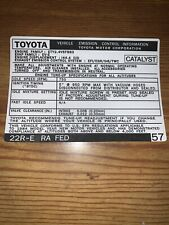 1984 Toyota Celica Gt Emissions Decal Repro Sticker 22re Ra #57