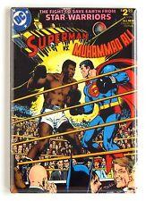 Superman vs Muhammed Ali FRIDGE MAGNET (2.5 x 3.5 inches) comic book