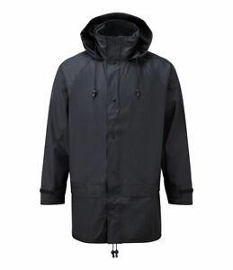 Castle Waterproof Windproof Flex Fortex 220 Jacket Rubberized Coat Navy