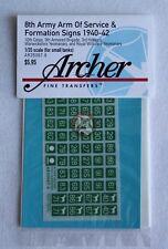 Archer 1/35 British 8th Army AOS & Formation Signs 1940-1942 #1 (6mm) AR35067.6