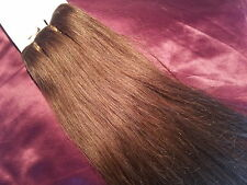 HUMAN WEAVE WEFT 100G #6 BEAUTIFUL INDIAN REMY HUMAN HAIR EXTENSIONS STRAIGHT