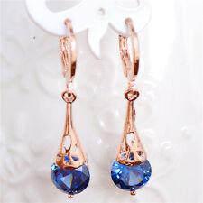 Hot jewelry 18k Gold Filled drop sweet cubic zirconia hoop earrings