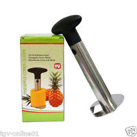 New Stainless Steel Easy Kitchen Tool Fruit Pineapple Corer Slicer Cutter Peeler