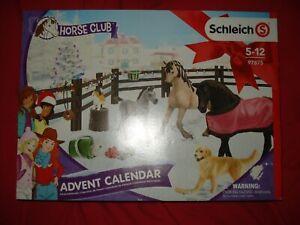 Schleich Adventskalender 97875 Pferde 2019 Horse Club NEU Farm Hund Fohlen Zaun