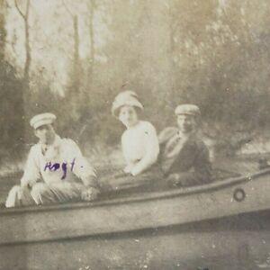 Oregon Portland 1910s Columbia Slough Fish Company Canoe River 1911 Photo G141