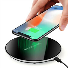 Qi Induction Wireless Charger Charging Stand Pad For i Phone 8 X 8Plus XS
