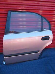1996-2000 Honda Civic Driver Rear Back Door Gold Sedan 4D Used OEM