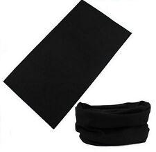 Tube Scarf Bandana Head Wrap Face Mask Neck Gaiter Snood Headwear Beanie Black