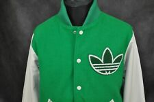 ADIDAS  ORIGINALS NIGO 25 VARSITY COLLEGE LEATHER SLEEVE MENS JACKET size L