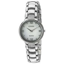 Citizen Ladies Eco-Drive Silhouette Diamond Silver Dial Watch EX1460-55A