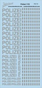 Polizei German Police 1/18 (190x90 mm) Waterslide decal POL7-18