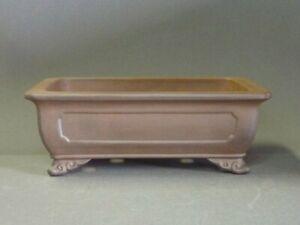 Tokoname Bonsai Pot Handmade Reihou Rectangle Brown TOKONAME 283*229*99mm KJ220