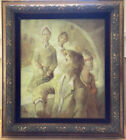 Robert Aillaud Ayo Original Painting On Canvas Signed Portrait Framed Artwork