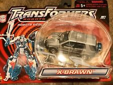 TRANSFORMERS ROBOTS IN DISGUISE RID X-BRAWN SILVER 2001 NEW ON SEALED CARD!