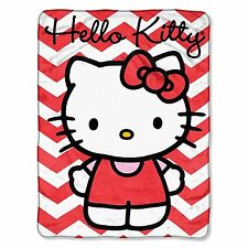 Hello Kitty PLUSH chevron  soft blanket throw design NEW microfiber super SOFT