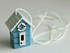 Wooden Nautical Beach Hut Pull Cord Light Switch Seaside Coastal Design