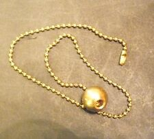 """3/4"""" Brass Ball with 15"""" Pull Chain for Light or Ceiling Fan Lamp Parts PC4"""