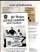 Gil Hodges JSA Coa Autograph 1970 Little League Yearbook Hand Signed