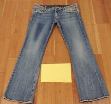 Womens ReRock Boot Cut Medium Wash Jeans Sz 30 Flap Pockets Distressed HOT HOT