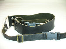 HERVIA LEATHER CAMERA NECK STRAP with lug rings, Quick release, Vintage #3720