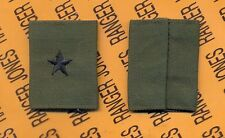 US ARMY Brigadier General BG 0-7 OD Green & Black Slip on rank patch