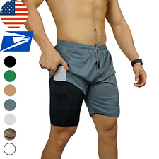 Men's Fitness Gym Sports Training Workout Running Compression liner Shorts Pants