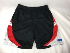 Vintage Nba Shorts Men's Large Nba Basketball Black Red And White H1A