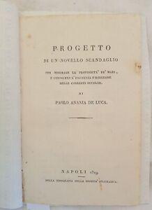 IRPINIA PROGETTO DI UN NOVELLO SCANDAGLIO ANANIA DE LUCA MONTEFUSCO AVELLINO 819