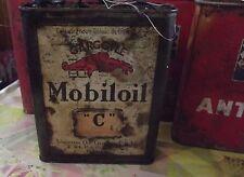 8 Ancien Bidons d'Huile Mobiloil ,Shell,Antar Vintage Automobile Poids-Lourd