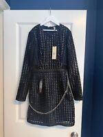 BNWT TOPSHOP BOUTIQUE Black CAGE CHAIN Dress SIZE UK 6 RRP £150 RARE Blogger